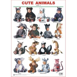 Educational Charts Series: Cute Animals Chart-2