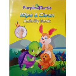 Purple Turtle Wipe and Clean Activity Book