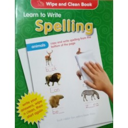 Wipe and Clean Book Learn to Write Spelling