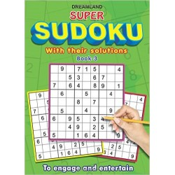 Super Sudoku with Solutions Book - 3