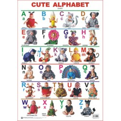 Educational Charts Series: Cute Alphabet